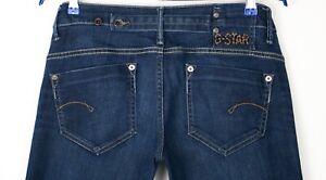 G-Star Raw Damen Midge Gerade Damen Stretch Jeans Größe W29 L34 AHZ56