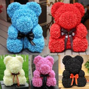 2019-Wedding-Party-Teddy-Bear-Foam-Rose-Flower-Bear-Toys-Gifts-23cm-Mother-039-s-Day