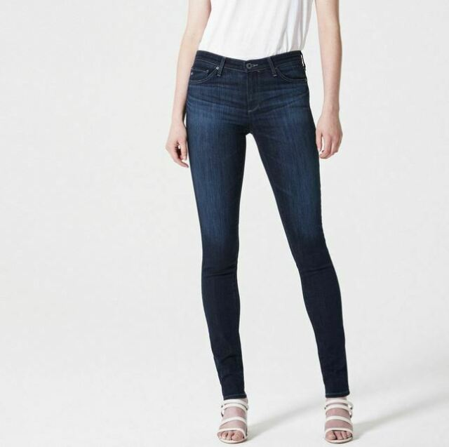 992ad0e1a833a AG Adriano Goldschmied 26 Jeans The Jegging Super Skinny Fit Dark Wash Slim