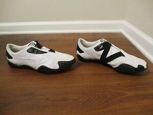 e73f964dc049c9 Used Worn Size 14 Puma Mostro Perf Leather Shoes White   Black
