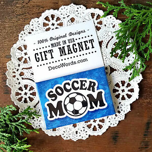 SOCCER-MOM-Gift-Magnet-Made-in-USA-New-in-Package-DecoWords-Sports-Family