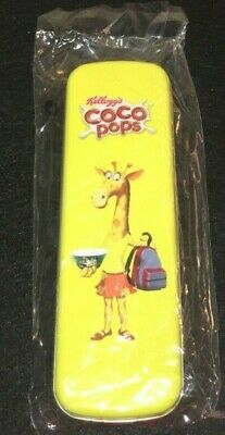 KELLOGGS COCO POPS PEN PENCIL CASE TIN NEW COCO THE MONKEY ADVERTISING bxd