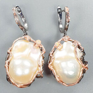 Baroque-Pearl-Earrings-Silver-925-Sterling-AAAA-Extra-Design-E39219