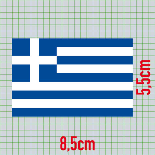3 Aufkleber 8,5cm Sticker GR Griechenland Fußball EM WM National Flagge Fahne