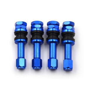 4X-TR48E-Bolt-in-Auto-Tubeless-Tube-Wheel-Valvula-de-neumaticos-Stems-Dust-CapSC