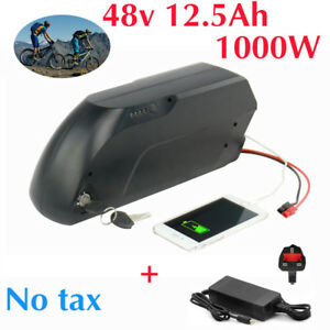 48V-12-5AH-1000W-E-Bike-TIGER-SHARK-Li-ion-Battery-fr-Electric-Bicycles-Black
