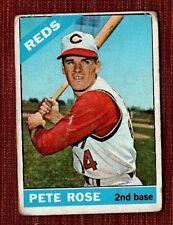 1966 Topps Pete Rose Cincinnati Reds 30 Baseball Card