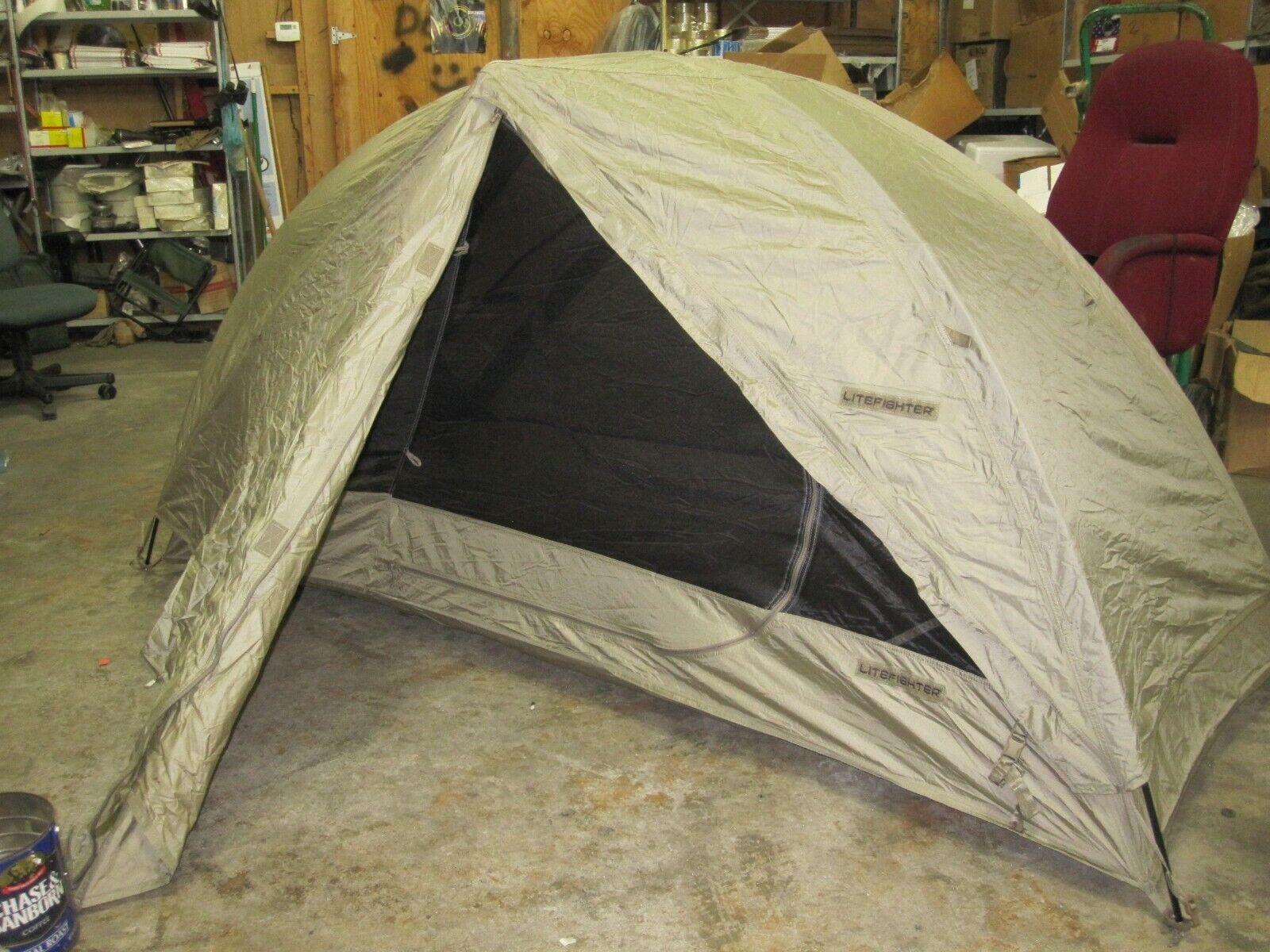 Neuwertig USGI Litefighter 1 Individuelle Schutz System Tan Leicht Tragbar Zelt
