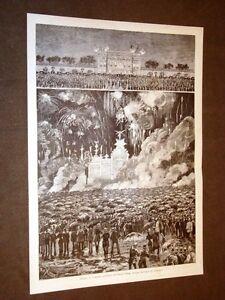 Milano-nel-1881-Fuochi-artificiali-o-d-039-artificio-in-Piazza-d-039-Armi