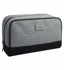 BRAND NEW 100% GENUINE HUGO BOSS MENS TOILETRY WASH SHAVE TRAVEL POUCH BAG GREY