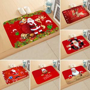 Christmas-Door-Mat-Santa-Claus-Floor-Carpet-Outdoor-Indoor-Rugs-Xmas-Home-Decor