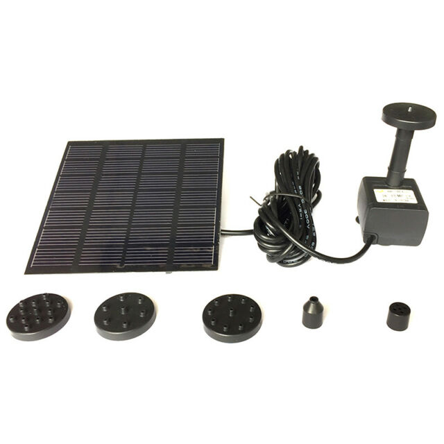 Solar Water Panel Power Fountain Pump Kit Pool Garden Pond Submersible WateringQ