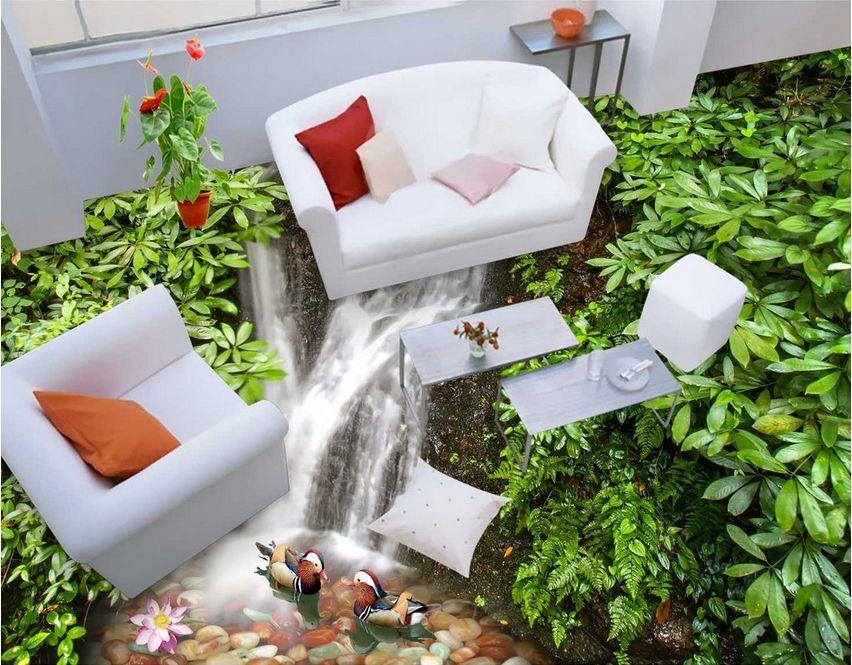 3D stone water gass 676 Floor WallPaper Murals Wall Print Decal 5D AJ WALLPAPER