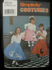 VTG Butterick 5129 GIRLS 50s Top~Poodle//Skate Skirt COSTUMES Pattern 4-5-6//12-14