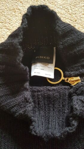 L Shoulder Knitwear With Size Cold Zip Pullover Pinko Sweater Gold Black Ladies qBXSWtP