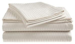 Queen-Size-White-400-Thread-Count-100-Cotton-Sateen-Dobby-Stripe-Sheet-Set