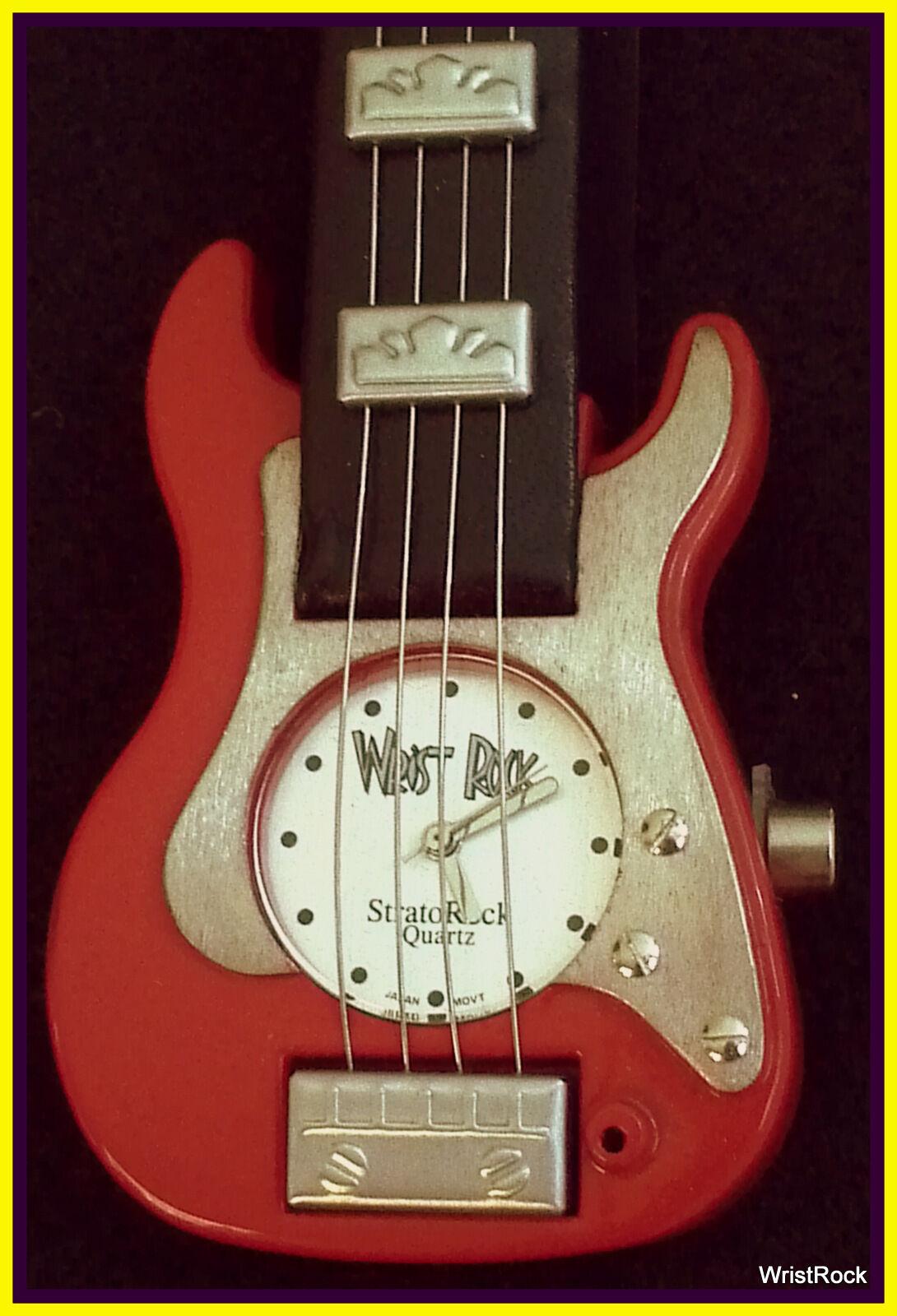 Brand New rot Strat Guitar Watch w  hard shell guitar case