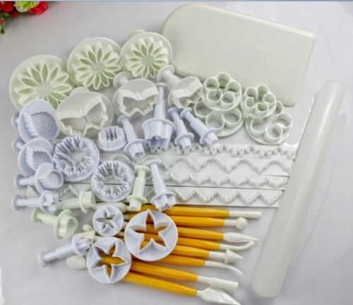 NEW Fondant Cake Decorating Icing Plunger Cutters Baking Tools Mold AL