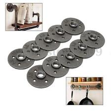 """10Pcs 1/2"""" Malleable Iron Floor Flange Fitting Pipe Plumbing Threaded Wall Mount"""