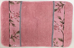Melrose Bath Rug And Towel Set Pink 651973874756 Ebay