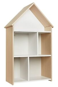 pretty nice d24a5 8f227 Details about Argos Home Camden Children's House Bookcase - White & Acacia