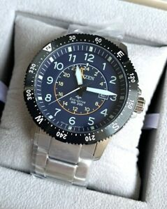 Citizen-Promaster-Land-Watch-BJ7094-59L-EcoDrive-Solar-Date-Silver-Steel