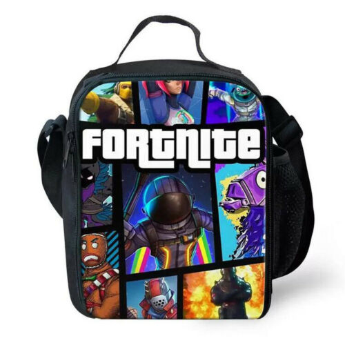 2019 Lunch Bag FORTNITE Insulated School Boys Girls Lunch Box Snack Picnic Bags