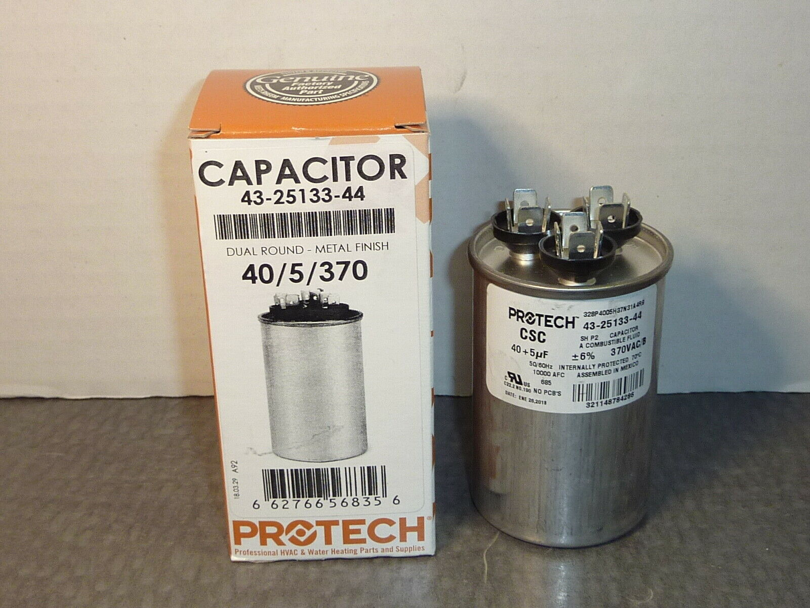 Protech 43-25133-12 Round Dual Run Capacitor 35//5//440 Rheem Rudd