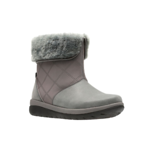 Clarks-Dark-grey-039-Cabrini-Reef-039-boots-E-Fit-Size-UK-9-EU-43-NH05-57