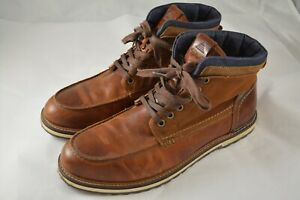 mens aldo brown leather dress casual ankle boots size 10