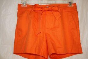 NWT-Banana-Republic-Women-039-s-Shorts-Casual-w-belt-Orange-size-2-4-034-inseam