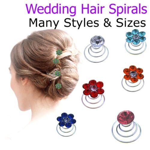 Crystal Hair Spirals Fashion Kids Girls Diamante Twists Spinners Accessories