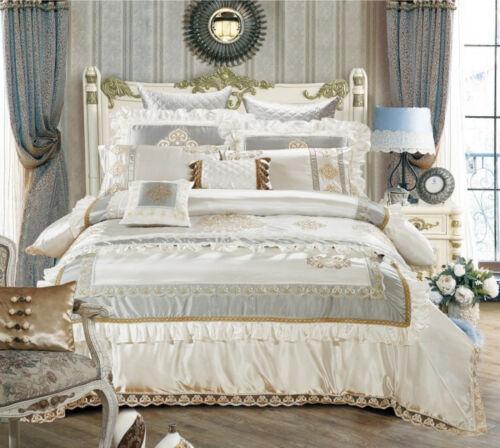 Cotton Silky Elegant Duvet Cover Bedding Set Bedspread Runner High Quality 11pcs