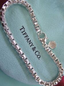 Image Is Loading Tiffany Amp Co Sterling Silver Venetian Box Link