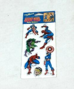 1984 Marvel Comics Secret Wars Dr Doom Captain America Bouffi Autocollants Scellé Nouveau-afficher Le Titre D'origine