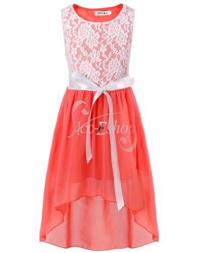 Pageant Graduation Flower Girl Kid Birthday Wedding Bridesmaid Formal Gown Dress