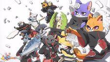 Poster 42x24 cm Naruto Shippuden Akatsuki Gatos Cats
