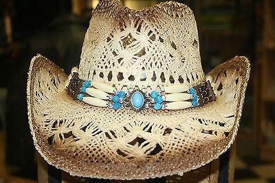 Strohhut Westernhut Cowboyhut Hüte Indian Hutband Westernhüte Running Bear Hut Um Sowohl Die QualitäT Der ZäHigkeit Als Auch Der HäRte Zu Haben