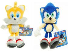 "2pcs Sonic The Hedgehog Sonic Tails Stuffed Plush Doll Toy 8"" US Ship"