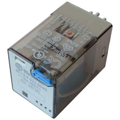 Finder 60.13.9.024.0040 industrie-relais 24 V DC 3xum 10 A 250 V AC Relais 855806