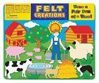 Felt Creations Farm Story Board - Kids Farmer Barn Animals Pigs Cow Sheep Craft