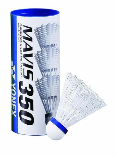 60 St. Yonex Badmintonball Mavis 350 Weiß-Blau/Blau=Mittel Neu Portokostenfrei Badminton