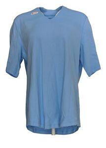 Isaac-Mizrahi-Live-Women-039-s-Top-Sz-L-Essentials-V-Neck-Elbow-Sleeve-Blue-A289635