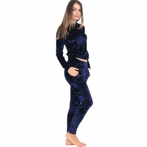 Femme Femmes Velours Lounge Wear loungesuit Survêtement Survêtement Co-Ord Set