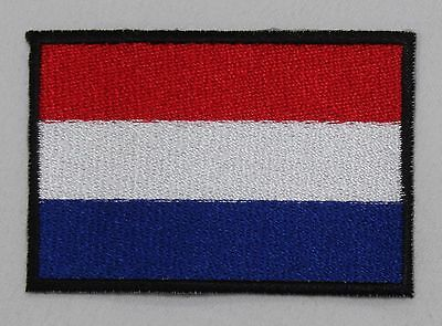 Iron On NETHERLANDS FLAG PATCH NATIONAL embroidered badge of dutch NEW