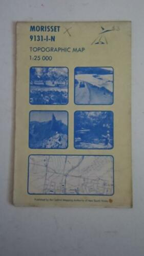 Topographic Map 125,000 Series Morisset 91311N 1ST Edition 1978 NSW
