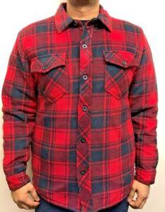 Homme-Nouveau-Charge-de-travail-Hiver-Matelasse-Rembourre-Polaire-Buffalo-Shirt-Veste-Outwear-Tops