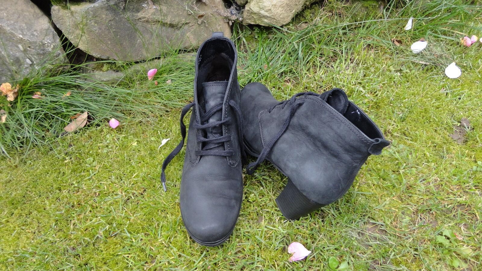 Gabor Leder Schuhe Stiefeletten Schwarz Größe 39