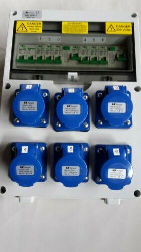 stage 240V splitter 63Amp Distribution board,power box Hook Up event distro