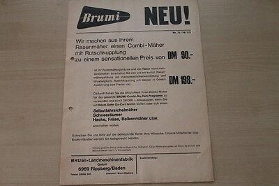 162733) Brumi Combi - Mäher - Prospekt 1971 Delikatessen Von Allen Geliebt